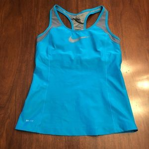 Nike racerback tank with built in bra